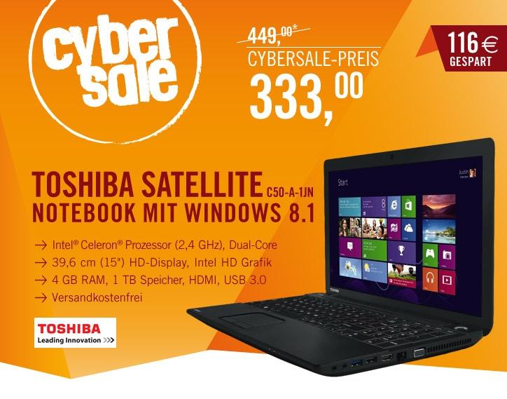 Toshiba Satellite C50 A 1JN 15,6″ Notebook für 333€
