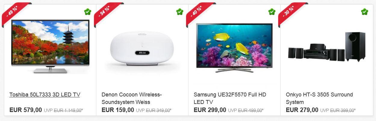 Ebay Osterangebote   letzter Tag z.B. Samsung Galaxy Tab 3 P5210 für 199€ oder Denon Cocoon Soundsystem für 159€