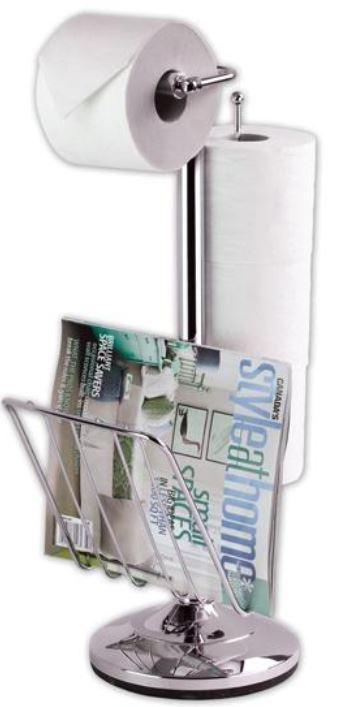 Inno Essentials Toilet Caddy Toilettenpapierhalter mit Zeitschriftenständer für 16,99€
