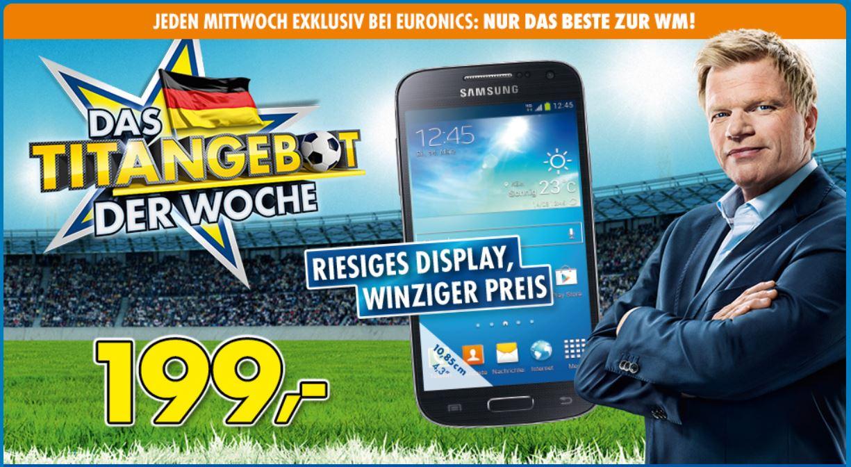 Samsung Galaxy S4 mini I9195 Smartphone für 199€ ab Mitternacht bei Euronics   Update!