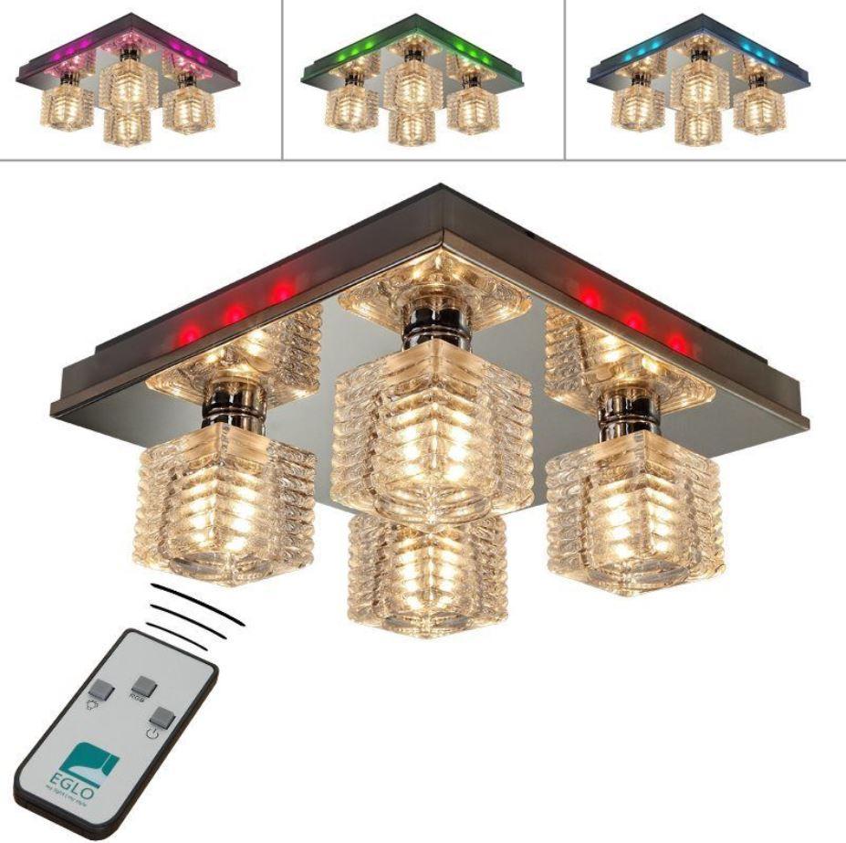 EGLO Isella   LED Deckenleuchte mit RGB Farbwechsel inkl. Fernbedienung für 37,99€