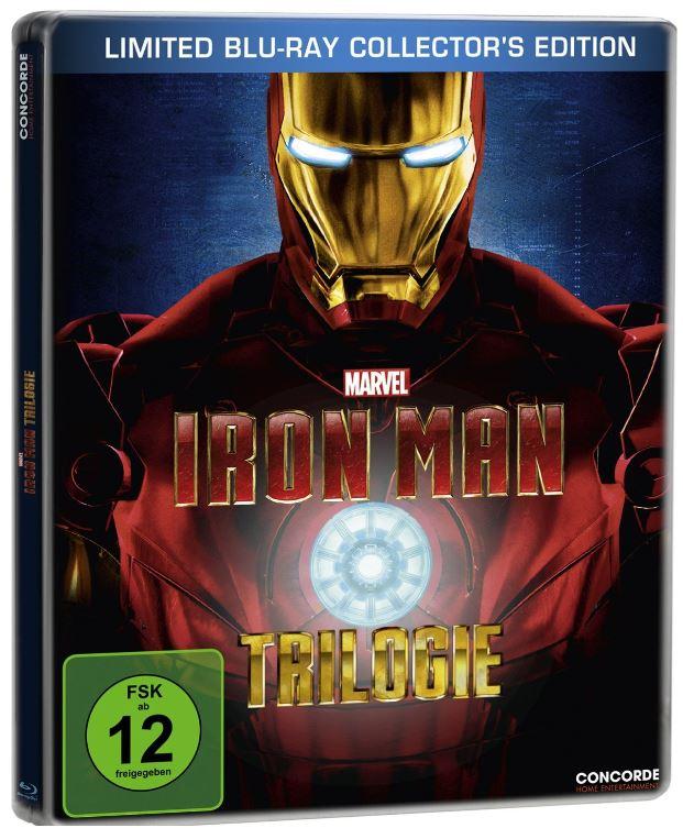 Iron Man   Trilogie   Steelbook für 21,97€ bei den Media Frühjahrsschnäppchen Tag 2