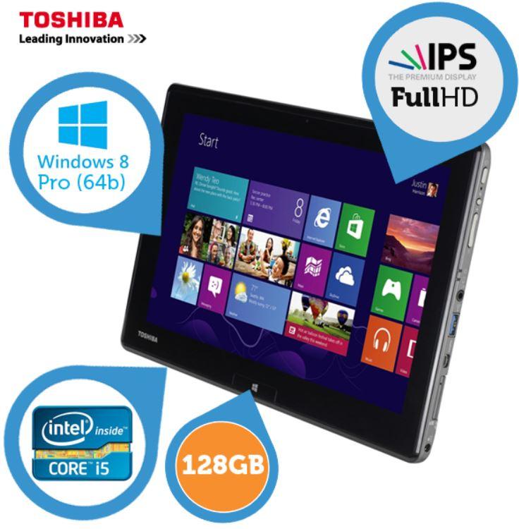 Toshiba WT310 Windows 8 Tablet auf Ultrabook Niveau mit IPS Display und i5 CPU für 505,90€