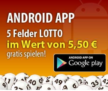 Tipp24 mit 5 gratis Tipps für 6 aus 49 (Wert: 5,50€) – für Android App