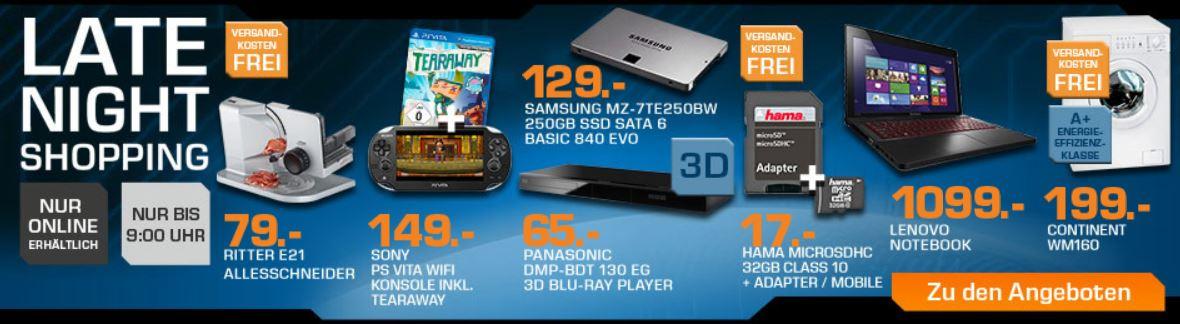 SONY PS Vita WiFi Konsole inkl. Tearaway für 149€ beim Saturn Late Night Sale