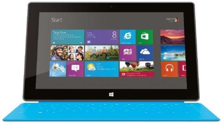 Microsoft Surface mit 64GB Speicher, Windows 8.1 RT und Touch Cover für nur 250,63€