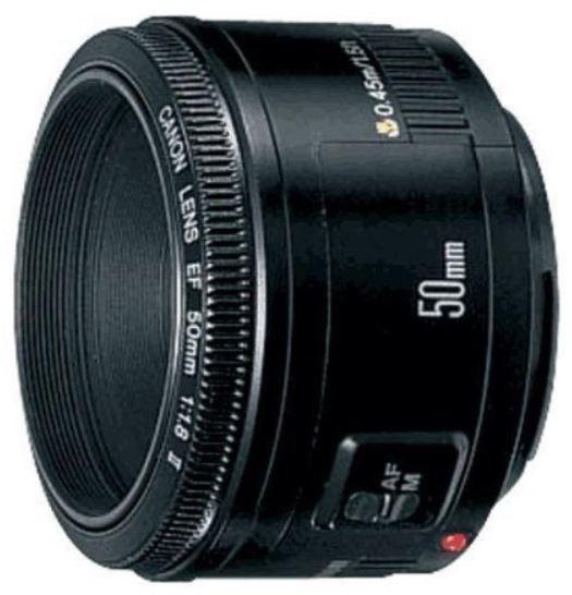 Canon EF 50mm 1:1.8 II Objektiv (52 mm Filtergewinde) für 56€ (Vergleich 98€)