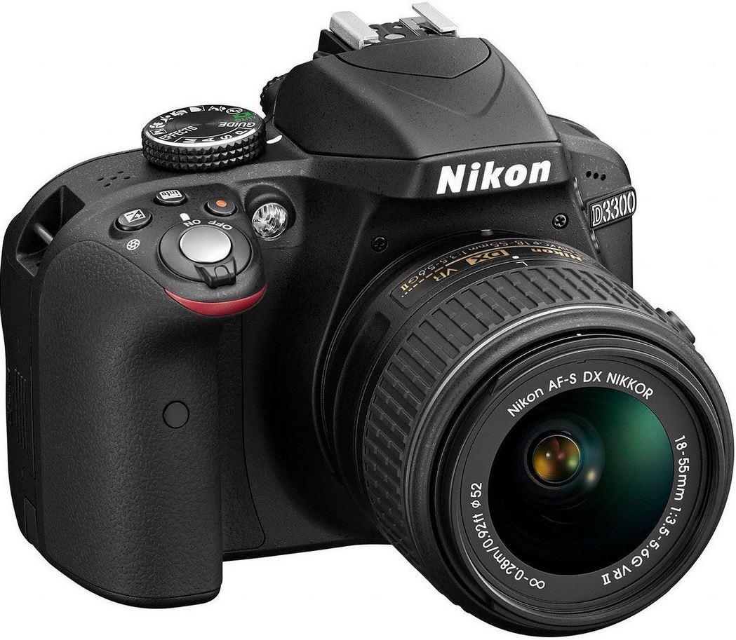 Nikon D3300   24MP SLR mit AF S DX 18 55 VR II Objektiv für 333,33€