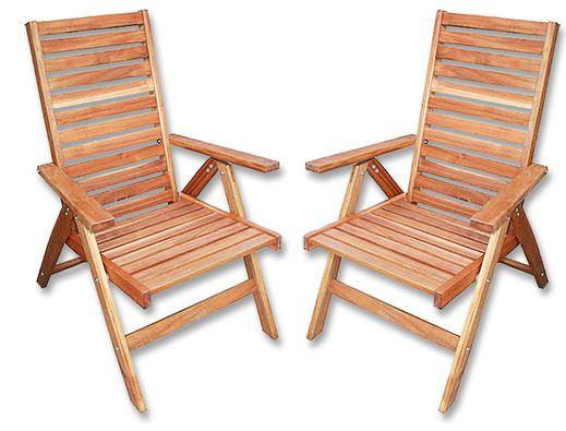 2er SET Garten Armlehnenstuhl aus Akazienholz für 66€ inkl. Versand