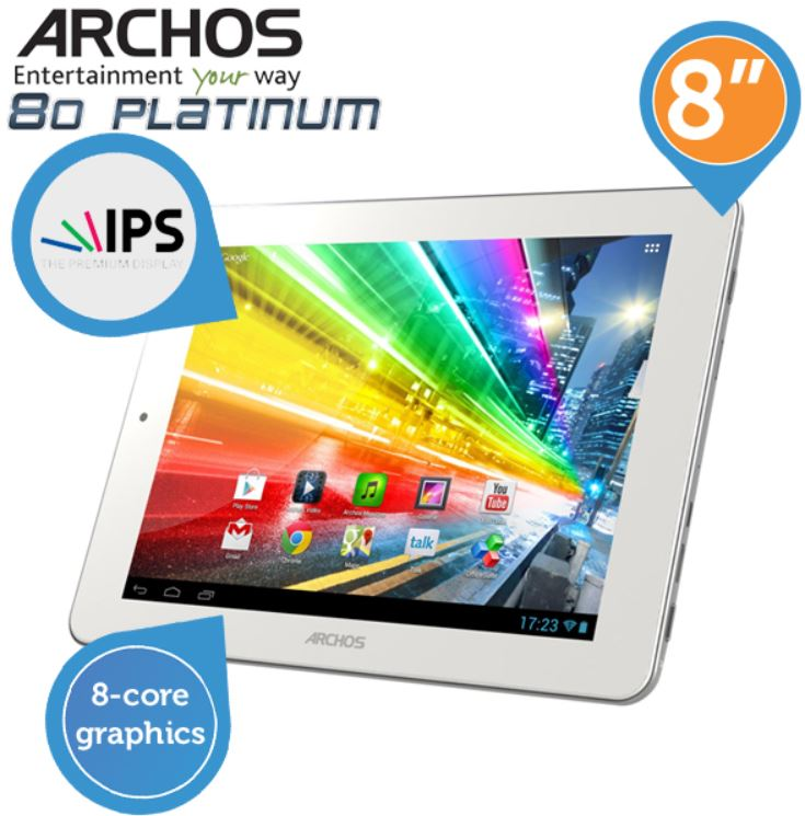 ARCHOS 80 Platinum   Android Tablet mit IPS Panel für 105,90€