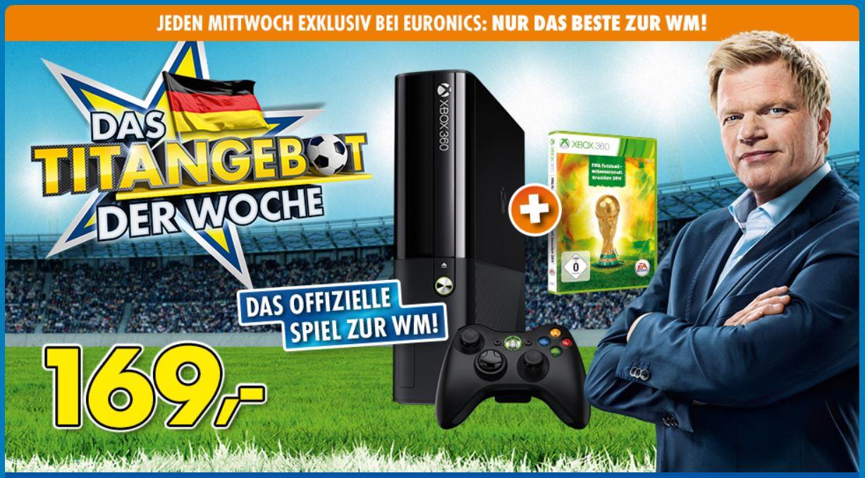 Microsoft Xbox 360 S 250GB + FIFA Fussball Weltmeisterschaft Brasilien ab 169€
