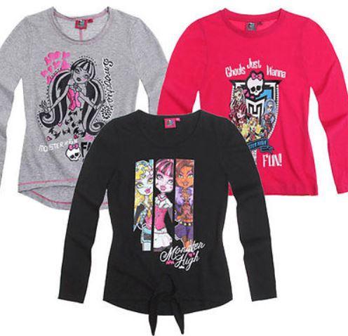 Monster High   stylishes Mädchen Langarmshirt für je 7,95€ inkl. Versand
