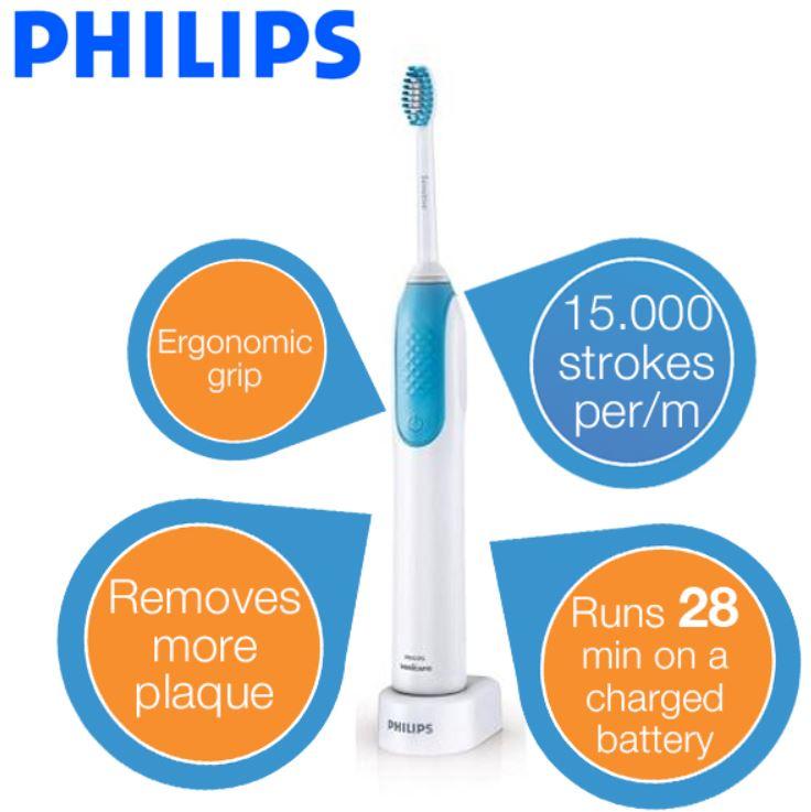 Philips Sonicare PowerUp HX3120/09 elektrische Zahnbürste für 25,90€