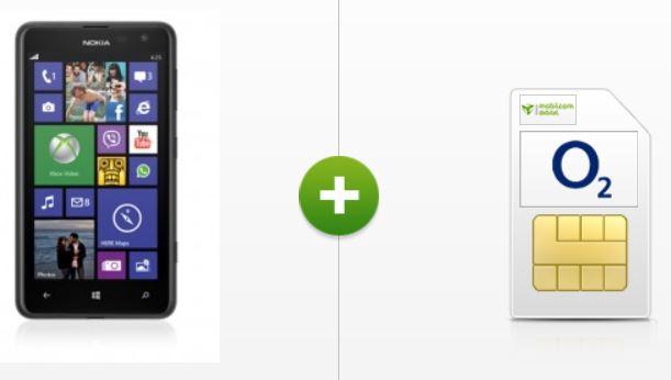 Nokia Lumia 625 black + o2 Blue All In M Vertrag für nur 4,95€ montl.