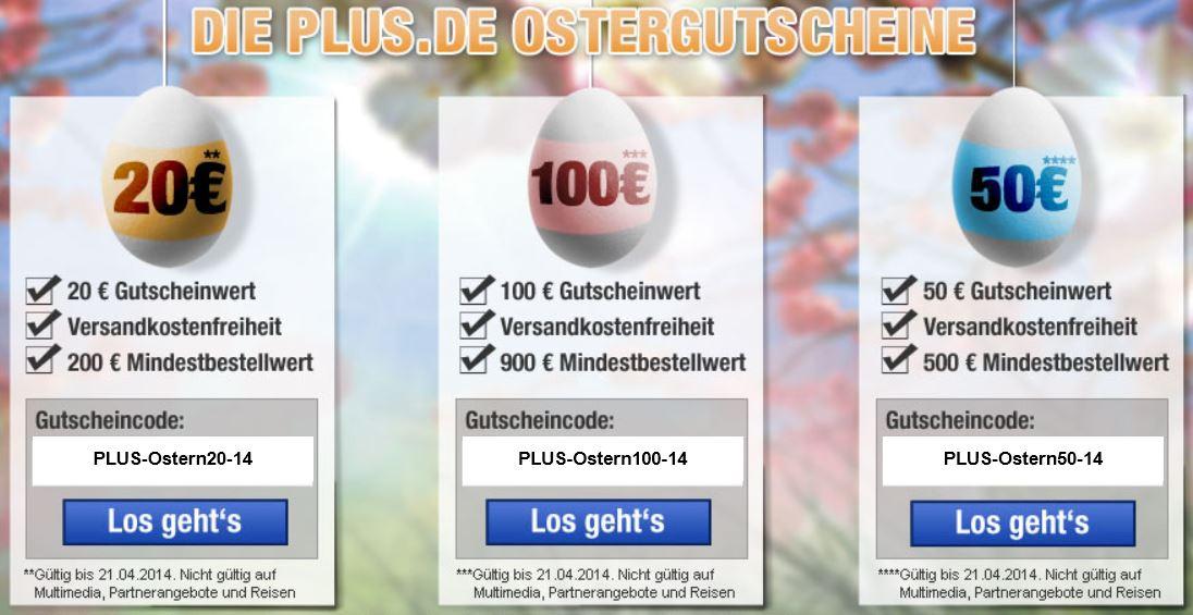 Plus.de heute mit Gutscheinen bis max. 100€