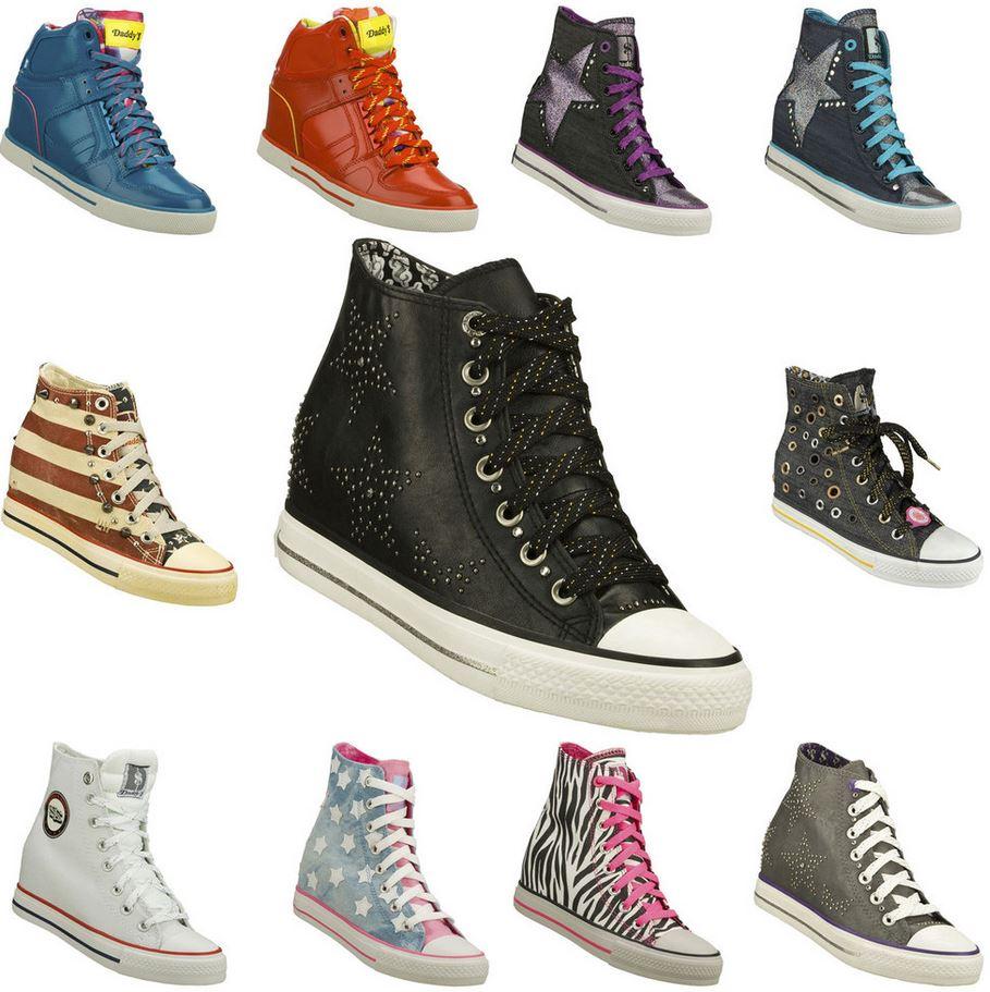 SKECHERS Damen Sneakers mit Keilabsatz verschiedene Modelle für je Paar 23,99€