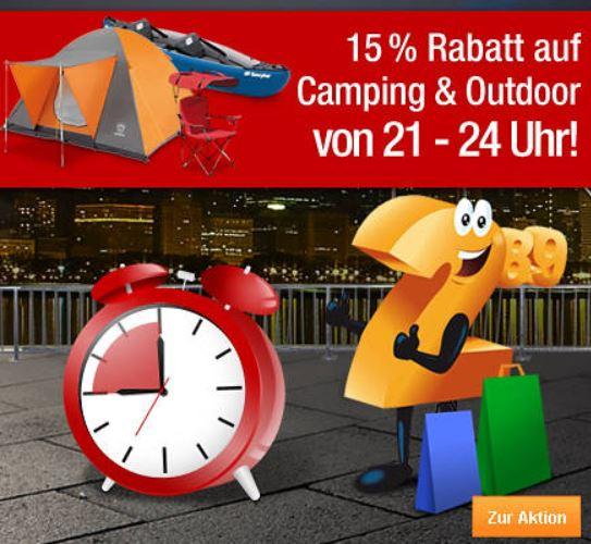 Plus.de   bis 24Uhr 15% Rabatt bei Camping und Outdoor Artikeln
