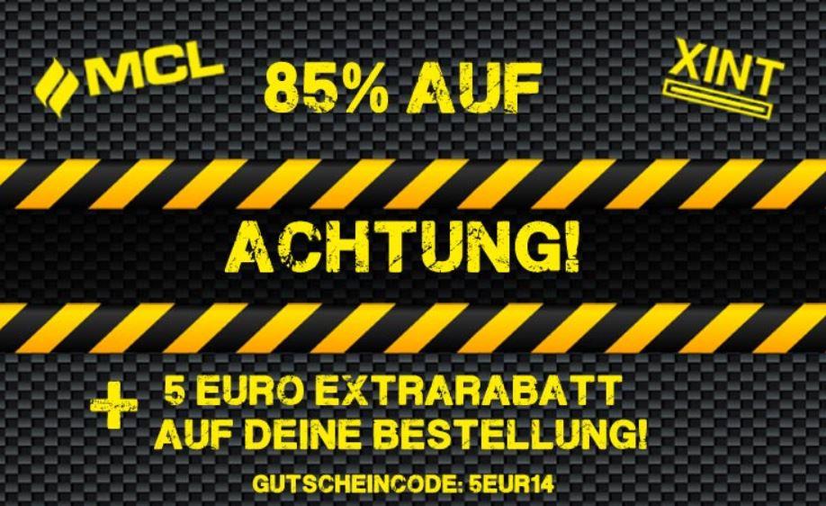 85% Rabatt auf XINT und MCL Artikel + 5€ Extrarabatt @Hoodboyz