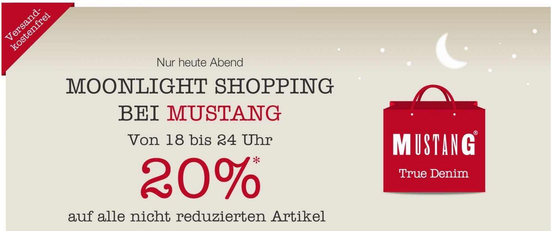 MUSTANG Moonlight Shopping mit 20% Rabatt auf nicht reduzierte Ware + VSK frei