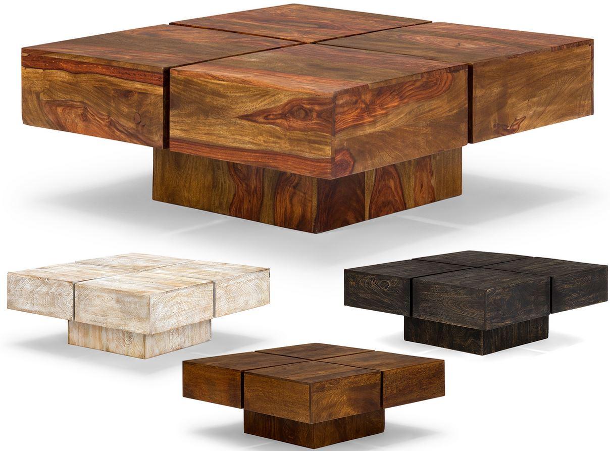 MASSIVUM Square   massiver Palisanderholz Tisch in 4 Farben für je 99€