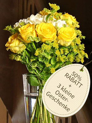 Miflora Blumenstrauß   Zitronensorbet + 3 Ostergeschenke nur 12,45€ statt 24,90€