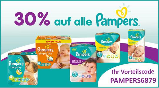 30% Rabatt auf alle Pampers bei Baby Markt
