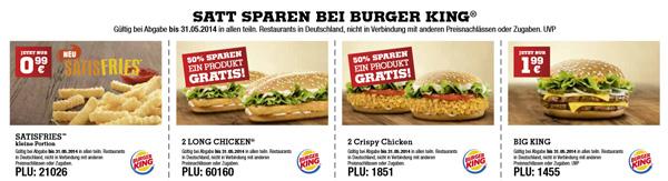 Burger King Gutscheine für Mai 2014   als pdf oder auf dem Smartphone