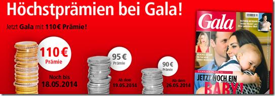 Jahresabo der Gala für 45,60€ statt 145,60€   Update