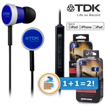TDK Life on Record In Ears mit iPhone Steuerung im Duopack für 30,90€