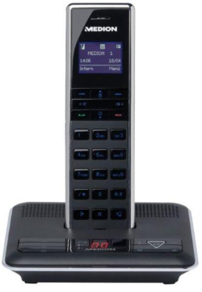MEDION S63075 Design DECT Telefon mit Bluetooth, SMS und AB für 9,95€