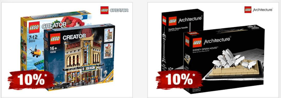 LEGO Architecture, Mustang Jeans und mehr bei den Galeria Feiertagsangeboten