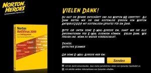 KOSTENLOS   1 Jahr Norton Antivirus 2009