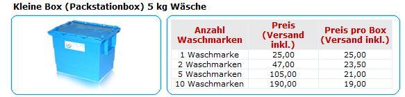 Cleenbox   Wäsche Bring+Hol Service   15€ Gutschein