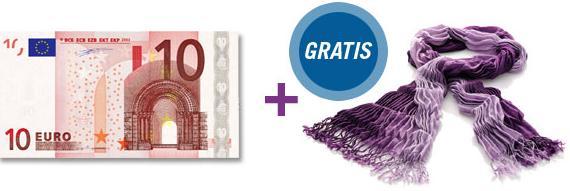 10€ sheego Gutschein und Gratis Plisseeschal
