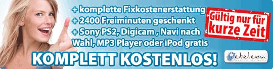 Komplett Kostenlos: Sony PS2, Samsung Digi Cam, Navi, iPod