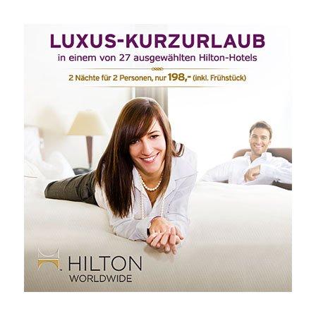 Luxus Hotel Hilton Geschenk Gutschein zum HAMMER Preis
