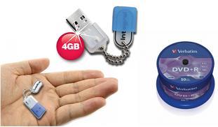 4 GB USB Stick 8€ (inkl Versand) & Verbatim DVD Rohlinge billiger