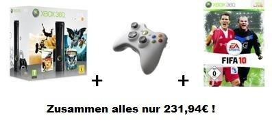 PREISFEHLER bei Amazon? Xbox 360 Elite 120GB + Lego Batman + Pure + Xbox 360 Controller + FIFA 10 nur 231,49€