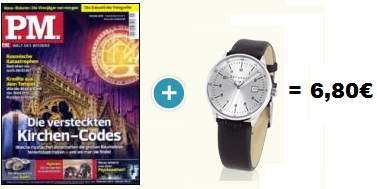 3 x P.M. & Bergmann Uhr nur 6,80€