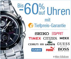 Neuer großer Uhren Ausverkauf bei Amazon bis zu 60% Rabatt