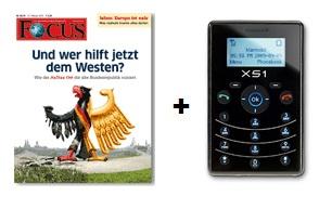 Cooles Foucs Mini Abo (10 Focus Ausgaben + XS1 Mini Handy) 21€