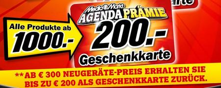MediaMarkt Aktion Agenda 2010 ab 300€ Geschenkkarte