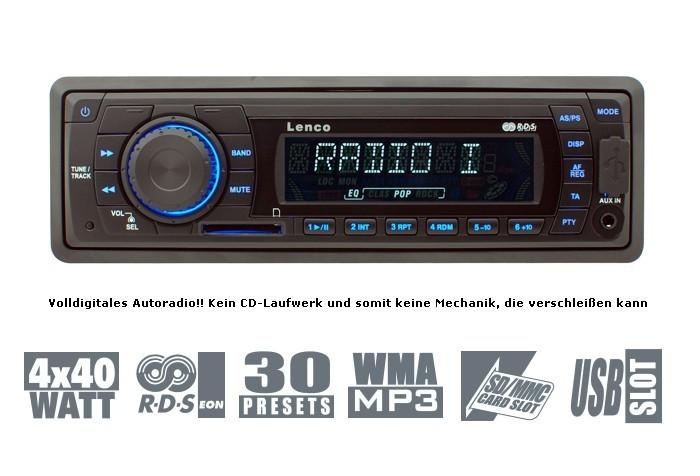 Autoradio Lenco CS 321 (USB Anschluss & SD/MMC Slot) 33€ inkl. Versand