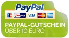 News: 10€ PayPal Gutscheincode für Newsletterempfänger (PayPal wird Pflicht als Zahlungsmittel)