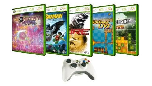Xbox 360 Arcade Upgrade Kit (Wireless Controller plus 5 Spiele) für 25,65€ inkl. Versand
