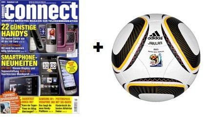 Mini Abo Schnäppchen: 6 Monats Abo Connect plus Original Adidas Mini WM Ball für 22€