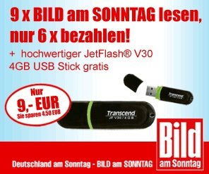 BAMS 9 mal zur Probe lessen plus 4GB Jet Flash USB Stick für nur 9€