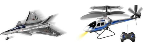 Jet X Twin Silverlit für 12,57€ & Helikopter Silverlit X Rotor Gyrotor für 19,11€
