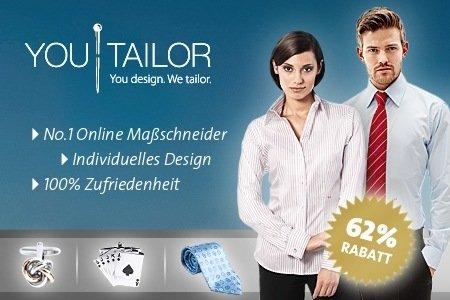 Maßgeschneiderte Hemden oder Blusen von YouTailor im Wert von 50€ kaufen und nur 19€ bezahlen