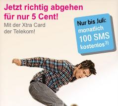 Tipp: Xtra Card (5 Cent netzintern und 6 Monate je 100 Gratis SMS) plus 10€ Startguthaben für nur 3€